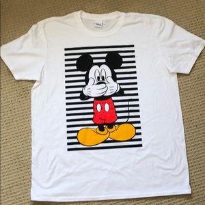 "Mickey ""speak no evil"" white tee"